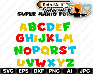 retromatti w part super mario font
