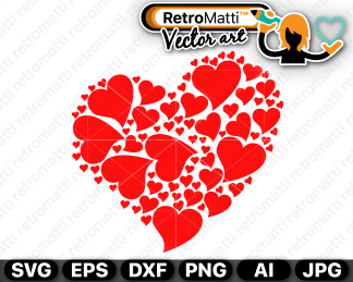 retromatti w part hearts in heart
