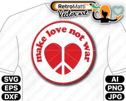 retromatti w part make love not war
