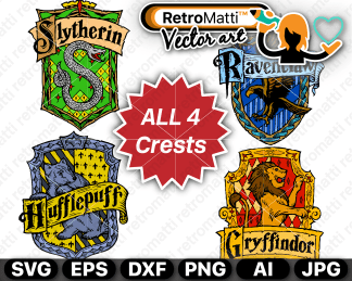 retromatti w parta harry potter all crests