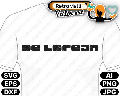 retromatti w part delorean logo