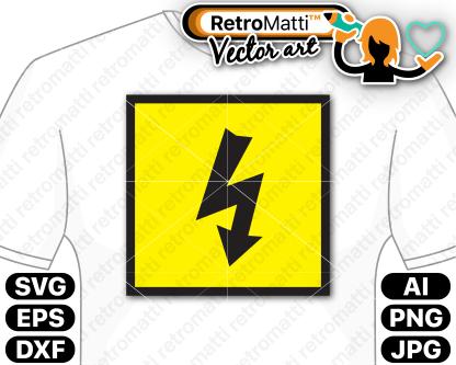 retromatti w part lightning bolt