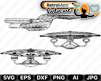 retromatti w part uss enterprise
