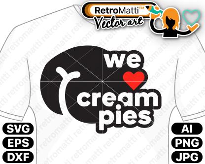 retromatti w part we heart cream pies