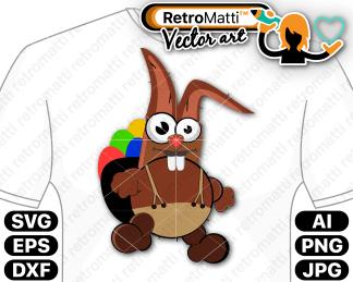 retromatti w part crazy easter bunny