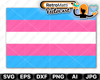 retromatti w part trans pride flag