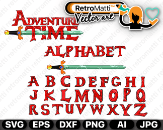 retromatti w part adventure time alphabet
