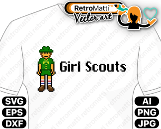 retromatti w part girl scouts pixel color