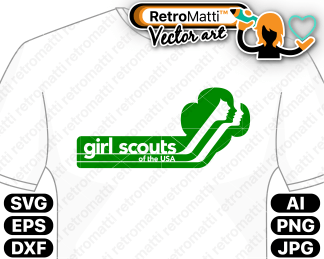 retromatti w part retro girl scouts logo new