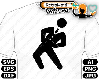 retromatti w part funny pictogram pose