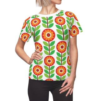 GeometricFlowerPatternWomen&#;sShirt
