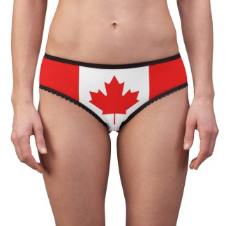 Oh! Canada Maple Leaf Canadian Flag Panties