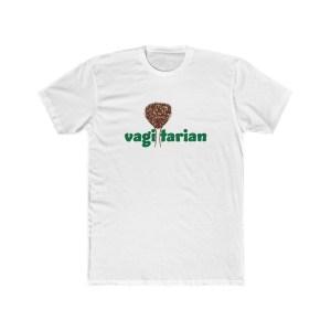 Vagitarian with Vagina Men's Cotton Crew Tee