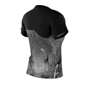 Bushwave linocut lesbian women's shirt