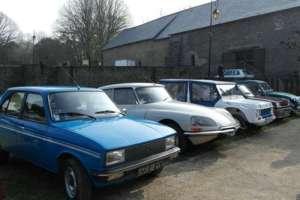 Peugot 104, Citroën DS, Citroën Méhari, Renault 5