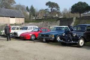 Citroên traction, Porsche, Pontiac, Peugeot