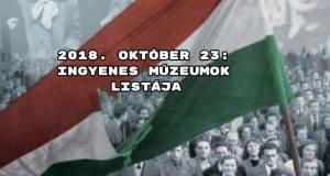 2018. október 23: ingyenes múzeumok listája
