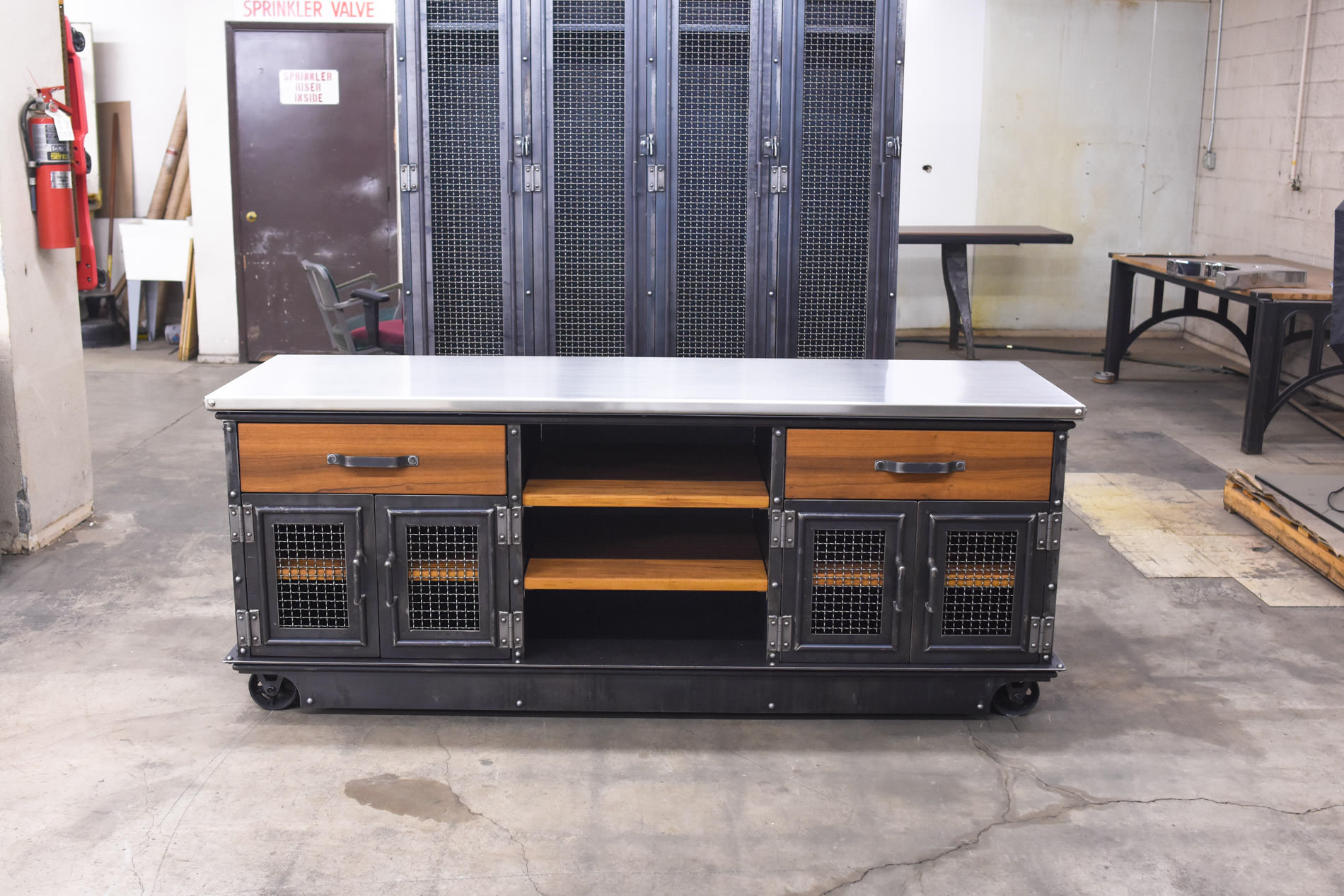 Boxcar Ellis Console Teak And Stainless Model E53