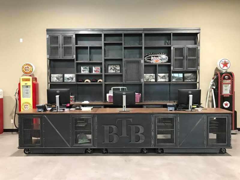 Vintage Industrial Retail Shelf And Counter Vintage Industrial Furniture