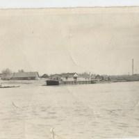 Пристань на воде, 1960-1970 г.г., г. Петриков, БССР, река Припять,  фото предоставил Петр Галота, (9retro)