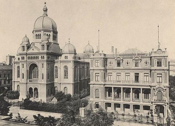 Wielka Synagoga w Łodzi, ul.Spacerowa – pocztówka