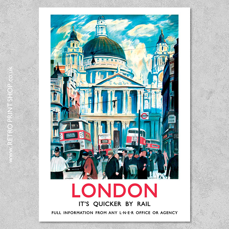 lner london st paul s cathedral poster