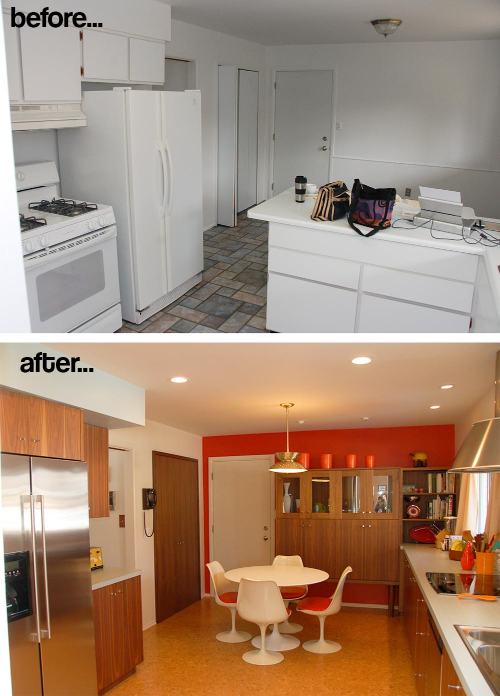 Rebecca And Keiths Mad Men Kitchen Remodel And Mad Men Ad Designed For Us Retro Renovation