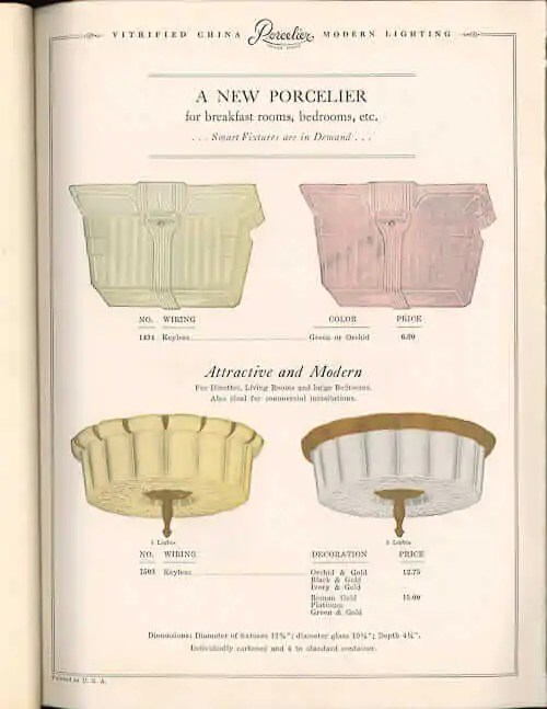 the history of porcelain light fixtures
