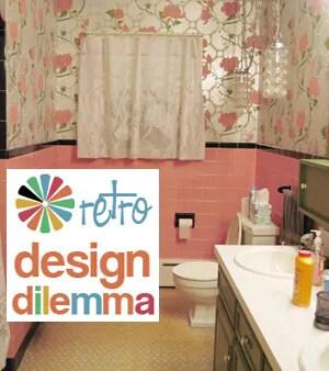 Pink And Black Bathroom Retro Home Decor Design Tsc