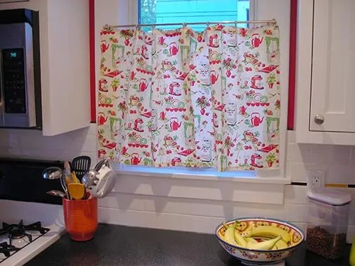 Retro Kitchen Curtains Red. panda 39 s house. gallery of for ...