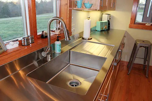 Attractive Stacia S One Piece Custom Kitchen Stainless Steel Sink And