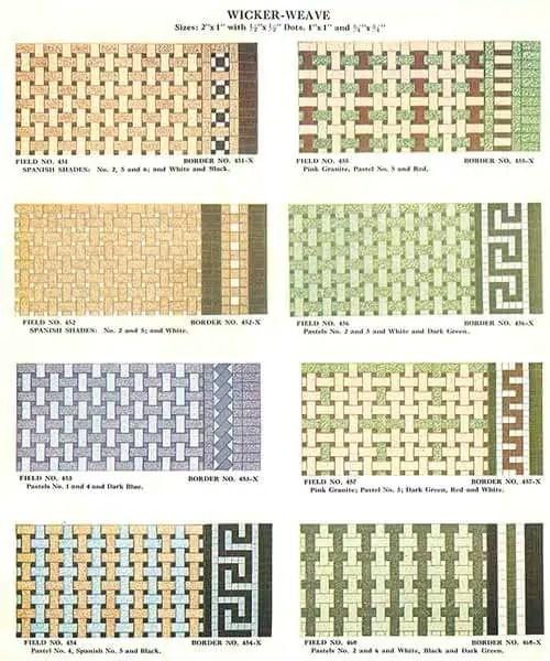112 patterns of mosaic floor tile in