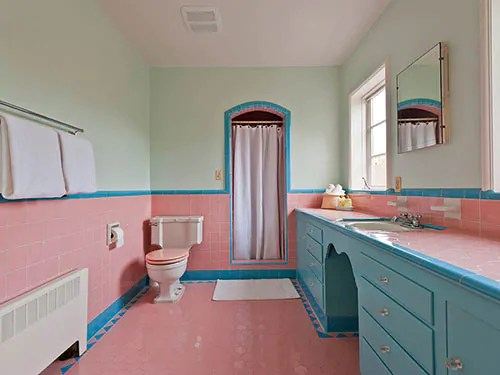 Baby Pink Bathroom Tiles Home Staging Accessories 2014