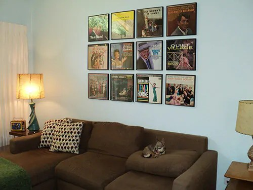 Framed Vintage Album Covers Used To Decorate Your Home