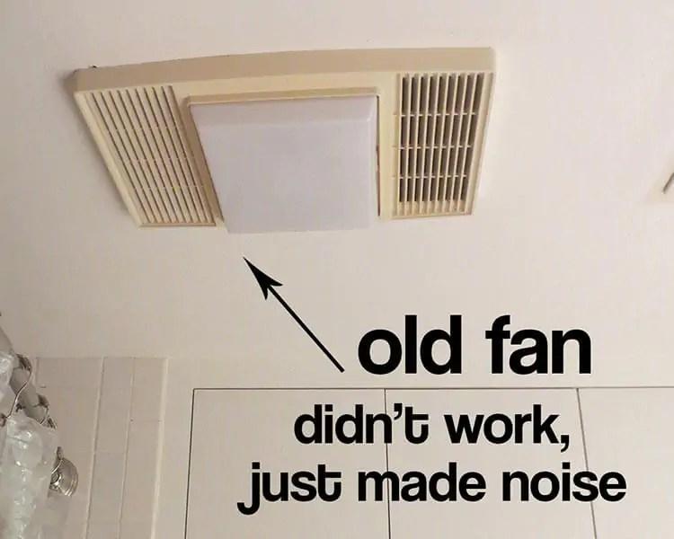 my bathroom exhaust fan didn t work