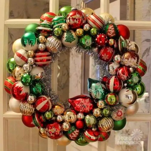 Ornament Wreaths Made From New Christmas Ornaments I