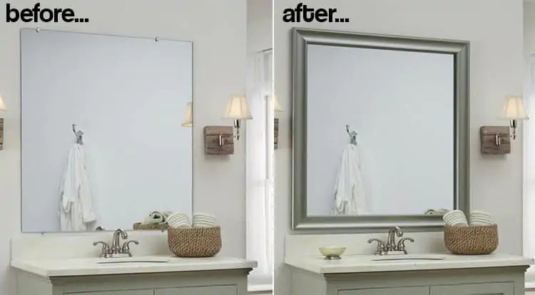 bathroom mirror frames - 2 easy-to-install sources + a diy