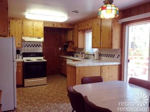 Knotty Pine Kitchen Cabinet