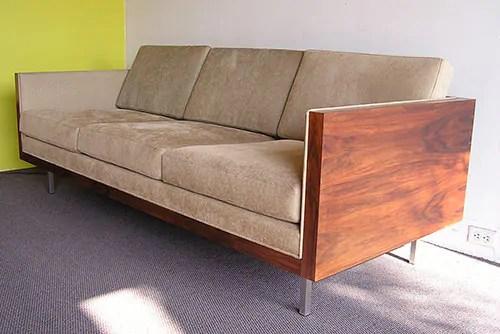 retro style boxy sofa futurama