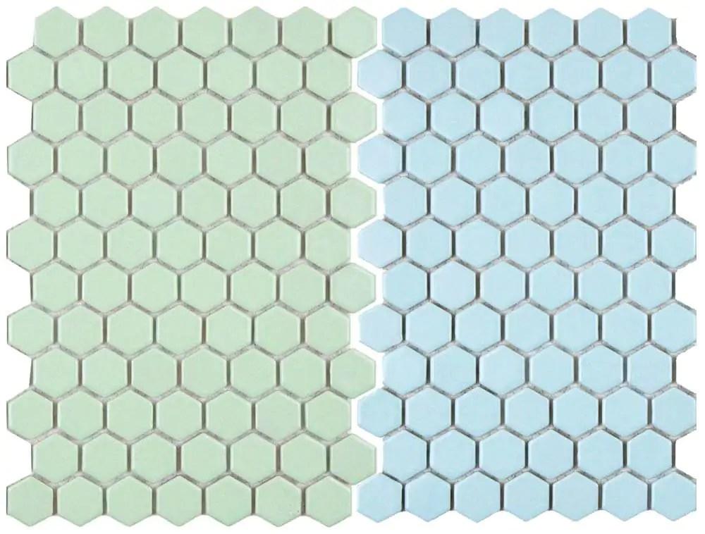 2 new porcelain hex tile floor options