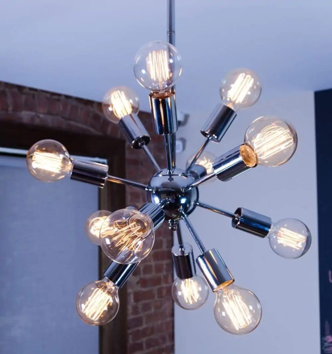 Midcentury Sputnik Chandelier Lights