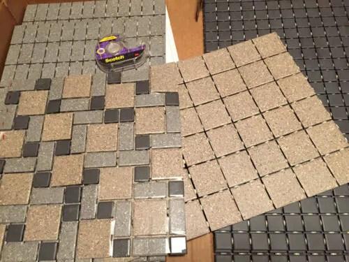 Nicole S Diy Daltile Mosaic Tile Floor Retro Renovation