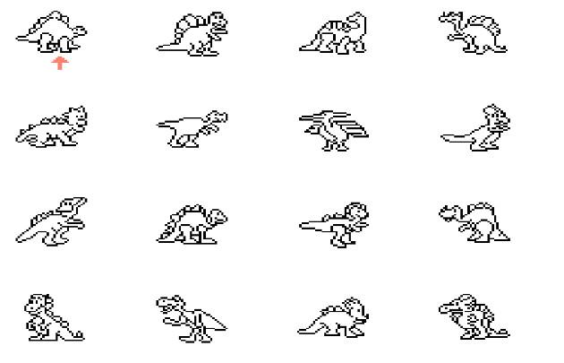 color a dinosaur select screen