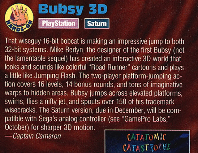Bubsy 3D Preview