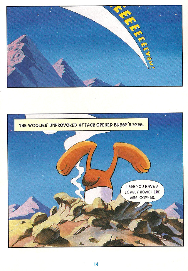Bubsy Comic Book Page 14