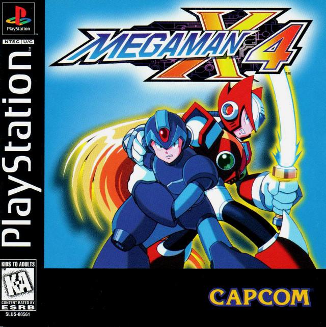 Mega Man X4 Box Art