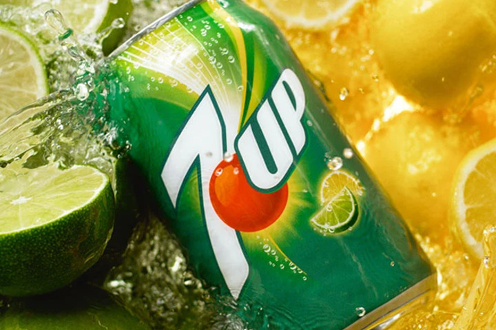 A refreshing can of 7up