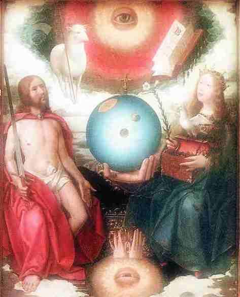 """""""Christliche Allegorie"""" von Jan Provost (ca. 1465-1529)"""