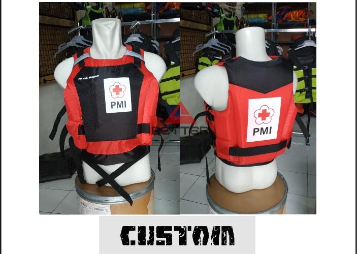 life jacket custom by PMI Kab. magetan