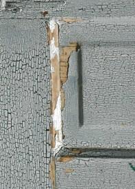 cracked paint on old door